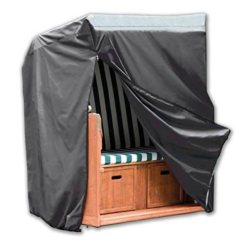 Monkey Mountain® 30293 Schutzhülle Deluxe für Strandkorb inklusive Tragebeutel - 130 cm x 100 cm x 170 cm / 134 cm - Hochwertiges Oxford Polyester 420D