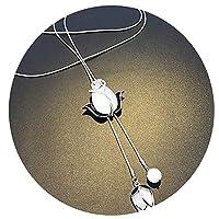 Carr Coverdale Pendants Ele Opal Tulip Flower Pendant Long Necklace Women Jewelry Sweater Necklaces Simple Classic Design
