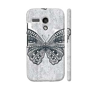 Colorpur Butterfly On Gray Background Designer Mobile Phone Case Back Cover For Motorola Moto G1 | Artist: Neeja Shah