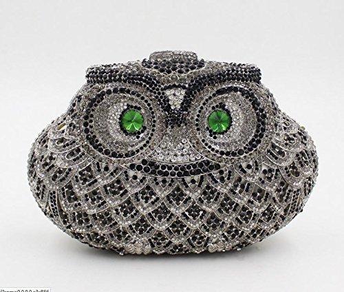 WYB Europäischen und amerikanischen Luxus hohle Diamant-Abendbeutel / hochwertigen voller Diamanten Abendtasche Hand 4