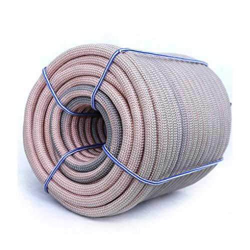 Corde d'escalade Corde de camping corde d'escalade, sécurité extérieure durable résistant à l'usure couleur - spécial mur extérieur nettoyage outil de travail aérien corde de sécurité Sling en plein a