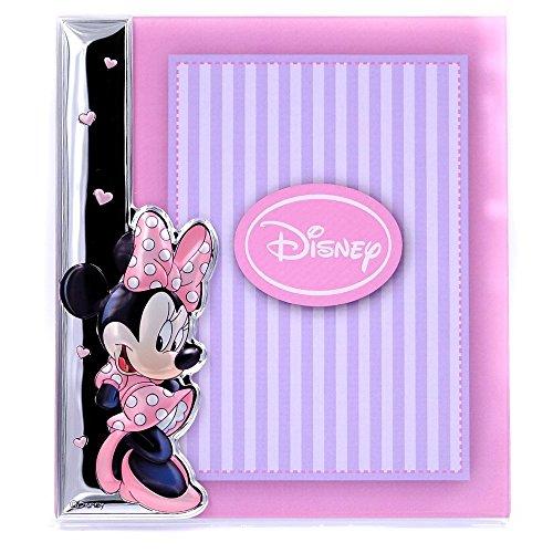 Disney Baby - Bilderrahmen zum Hinstellen - aus Silber - Minnie-Maus-Design - ideal für das Baby-oder Kinderzimmer - perfekt als Geschenkidee zur Taufe oder zum Geburtstag - farbiges 3D-Motiv