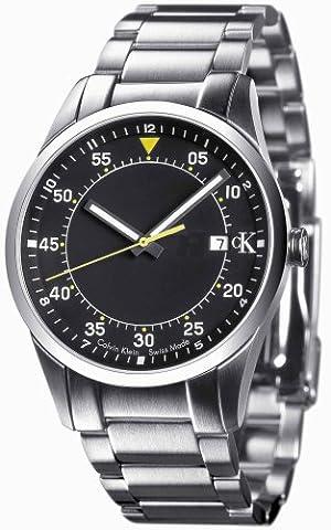 cK Calvin Klein K2232111 Men's Stainless Steel Bracelet Black Dial With Date