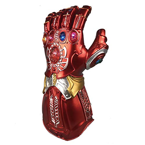Kostüm Kinder Red Hulk - Thanos Infinity Gauntlet Glove Für Erwachsene Mit LED-Licht Handschuh Avengers 4 Movie Toy (Kinder) Red-Child Size