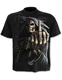 Spiral Bone Finger T-shirt noir