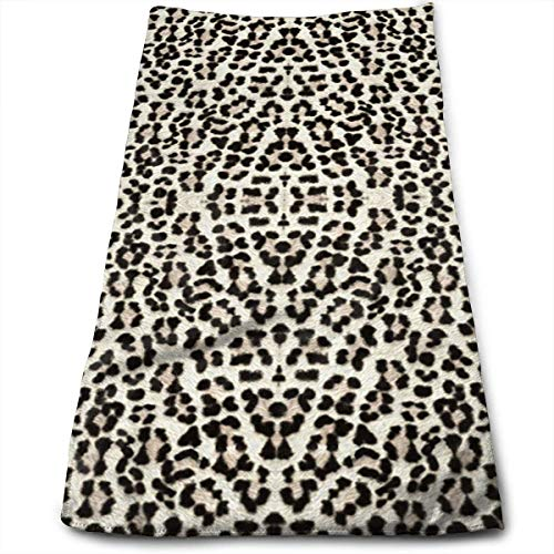 ERCGY Snow Leopard Bigger and Better Towels Multi-Purpose Microfiber Soft Fast Drying Travel Gym Home Hotel Office Washcloths