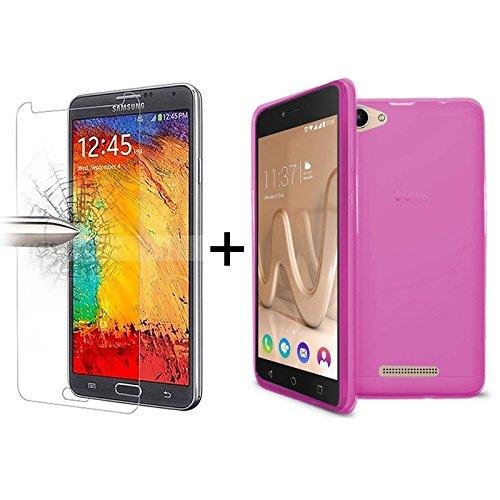 tbocr-pack-custodia-gel-tpu-rosa-pellicola-protettiva-per-display-in-vetro-temperato-per-wiko-lenny-