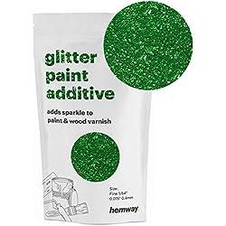 Hemway Additif de peinture à paillettes 0,4 mm à base d'eau pour plafond mural 100 g, vert