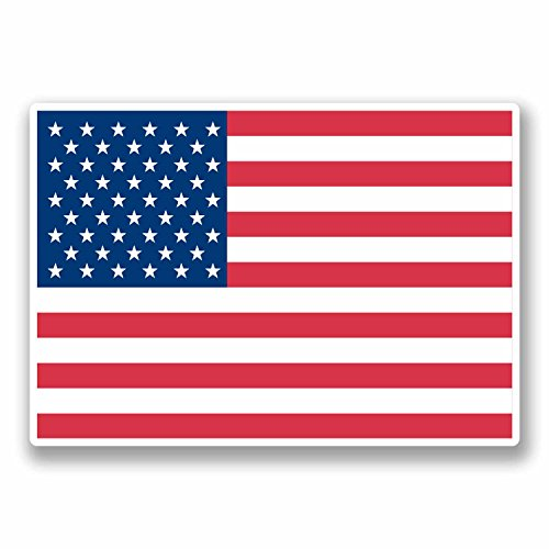 Stickers Decals x2 TEXAS State Flying Flag USA America US American 75mm 3/""