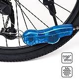 Nettoyage pour Chaînes de Vélo Outils de Poche pour Nettoyer Chaine Cyclisme Vélos Chaine Nettoyant Rapide Mini Machine à Laver en Chaîne avec des brosses rotatives 3D