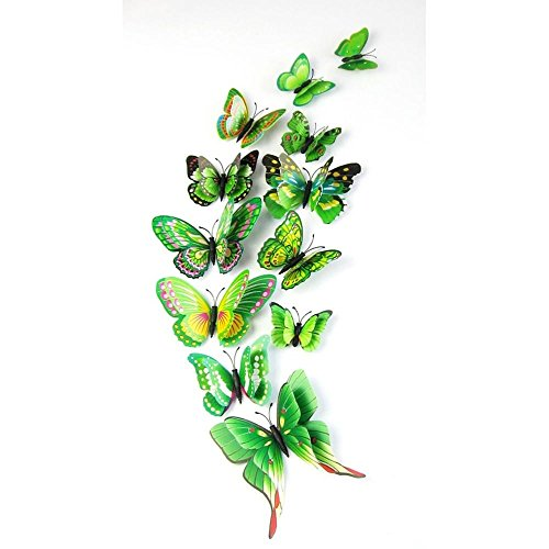 indexp-12x-3d-double-layer-butterfly-wall-sticker-fridge-magnet-room-decor-decal-applique-green
