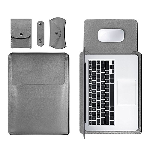 13 Inch Laptop Bag,Waterproof Leather Sleeve Case For 13.3 Inches MacBook  Air And Macbook