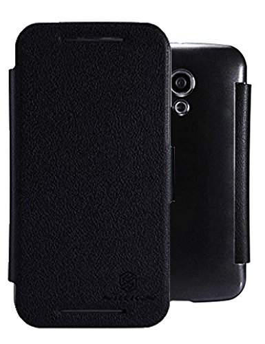 Heartly Nillkin Fresh Series Leather Flip Stand Bumper Back Case Cover With Smart Auto Wake Up Sleep Function For Motorola Moto G2 G G+1 2nd Generation XT1068 - Best Black