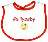 Raindrops Silly Baby Hashtag Bib, Orange