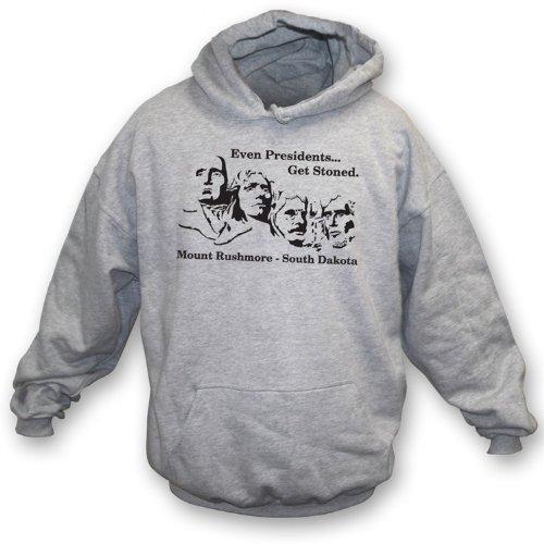 TshirtGrill Sogar Präsidenten Get Stoned Hooded Sweatshirt Small, Farbe grau Preisvergleich