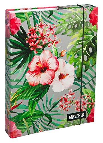 Undercover UNGH0940 - Heftbox Hibiscus A4, 32 x 24 x 4 cm