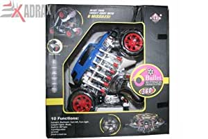 Multi Functions Exciting Stunt Car Model Cum Robot Toy Gift For Boys 6-12 Years