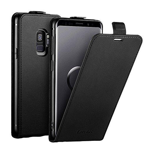 EasyAcc Hülle Case für Samsung Galaxy S9, PU Kunstleder Tasche mit Magnetverschluss Kartenhalter & Vertikales Flip-Cover Brieftasche Handy Schutzhülle Kompatibel mit Samsung Galaxy S9