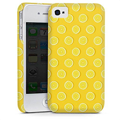 Apple iPhone 5 Housse étui coque protection Citrons Été Fruits Cas Premium mat