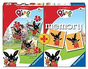 Ravensburger 20518 Bing Multipack Memory con 3 puzles, Juego Educativo
