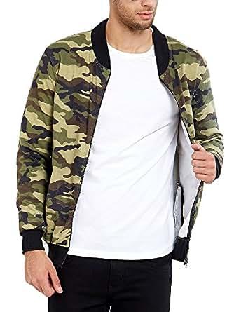 Maniac Men's Cotton Jacket (ML-Mens-RN-FS-Camou-Jacket-S, Green, Small)