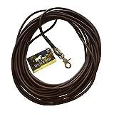 Schleppleine aus 6 mm runder BioThane® / 1-15 Meter / dunkel-braun