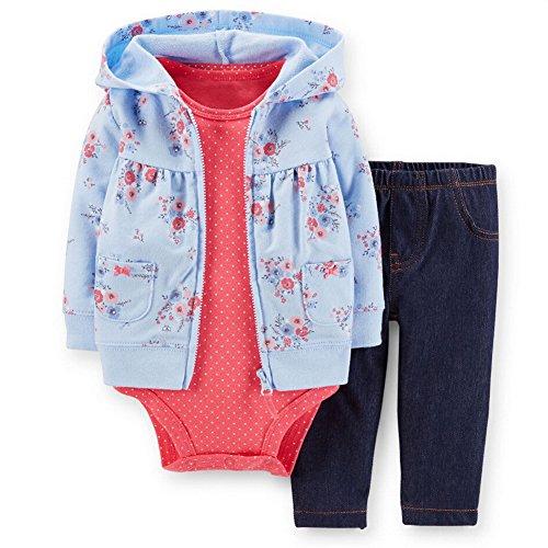 Set Jungen Romper Langarm Sweatjacke Mädchen Outfits Hoodie Kombination 3-18 Monate ()