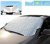 Eximtrade Auto Voiture Pliable Pare-soleil Parasol Neige Glace Couverture Déflecteur Pare-brise Fenêtre Visière Chaleur Rayons UV Réflecteur Protection pour Voiture Camion VUS Van (Extra épais)