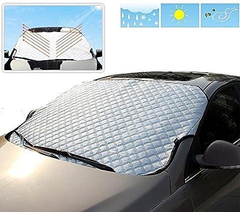 Eximtrade Auto Voiture Pliable Pare-soleil Parasol Neige Glace Couverture Déflecteur Pare-brise Fenêtre Visière Chaleur Rayons UV Réflecteur Protection pour Voiture Camion VUS Van (Extra