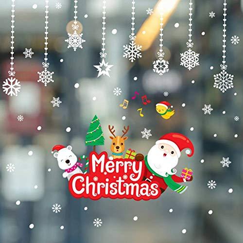 HUDETIE Weihnachtsschmuck, Dekorative Aufkleber, Schlafzimmer, Wohnzimmer, Schaufenster, Fenster, Glas Wandaufkleber (Dekorativen Weihnachtsschmuck)
