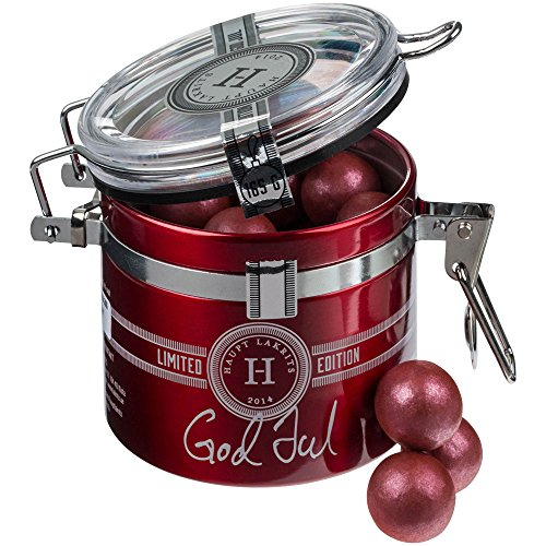 Haupt Lakrits GOD JUL - Lakritzpralinen Weihnachts-Edition aus Schweden (Dose 165g)