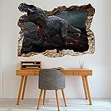 murando - 3D WANDILLUSION 140x100 cm Wandbild - Fototapete - Poster XXL - Loch 3D - Vlies Leinwand - Panorama Bilder - Dekoration - Dinosaurier für Kinder g-C-0039-t-a