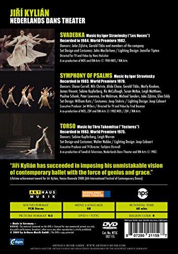 3 Ballets de Jiri Kylian (Svadebka, Symphonie des Psaumes, Torso) [(+Booklet)] [Import Italien]