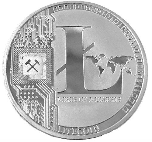 LiteCoin LTC physische Münze Silberfarben, perfekt als Weihnachtsgeschenk