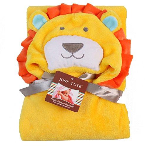 Tongchou Sortie de Bain a Capuche Peignoir de Bain Bebe Serviette Drap de Bain Bebe Jaune Lion