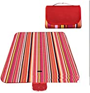 Outdoor & Picnic Blanket Extra Large Sand Proof and Waterproof Portable Beach Mat for Camping Hiking Festi