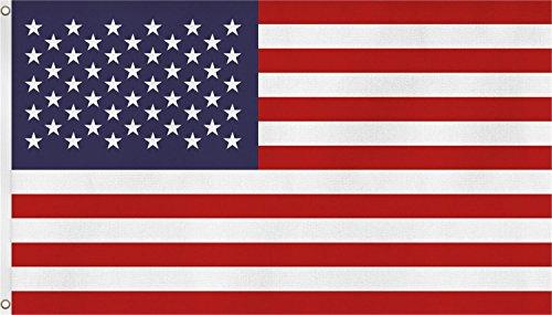 normani Flaggen mit verschiedenen Motiven - inkl. Metallösen zum Aufhängen und Hissen - 110 g/m2-150 cm x 250 cm Farbe USA Größe 3 Stück