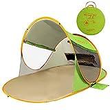 ZOMAKE Tenda da Spiaggia Portatile per Bambini Esterni, 2 Persone Pop up tenda Con Protezione Solare (Verde)