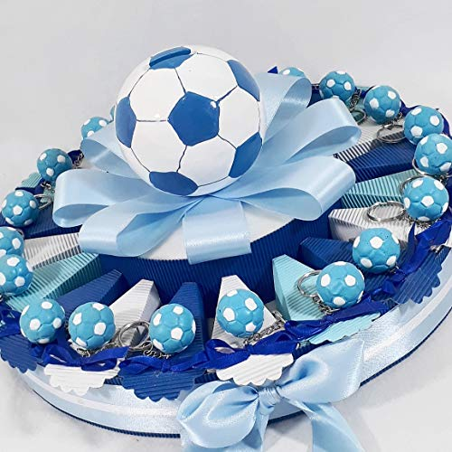 Bomboniere portachiavi pallone del napoli calcio per nascita per battesimo cresima e comunione