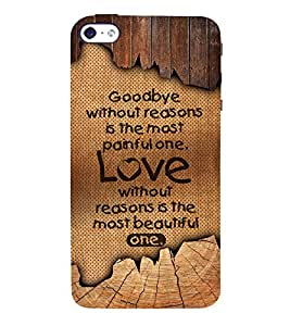 Painful Love 3D Hard Polycarbonate Designer Back Case Cover for Apple iPhone 5