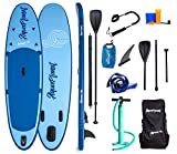 AQUAPLANET All Age's SS001 Inflatable Stand Up Paddleboard, Blue, 3.0m