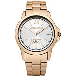 Little Mistress Women's Quartz Watch with Silver Dial Analogue Display and Rose Gold Bracelet LM015
