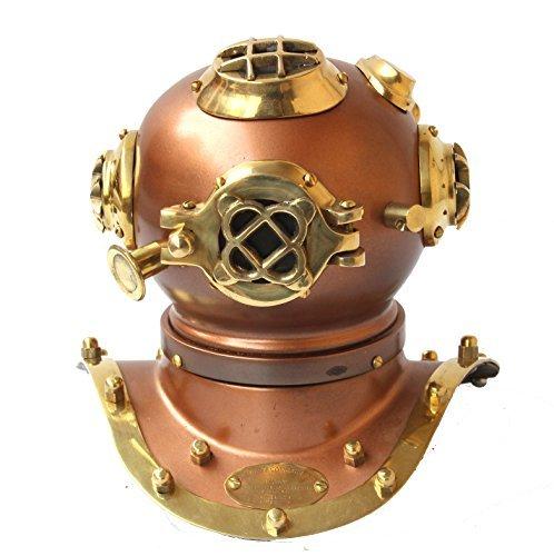 Antik Marine Messing handgefertigt Taucher Helm Nautisches authentischer Artikel Sammlerstücke Design US Navy Mark V–Home Replica Deko Geschenke