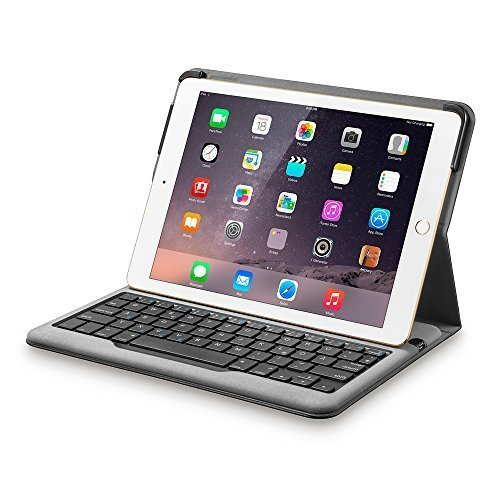 2 Cases Tastatur Air Mit Ipad (Anker Bluetooth Folio Tastatur Case Hülle für iPad Air 2 — Smart Case mit Auto Wake / Sleep Funktion, Komfortable Tasten und 6 Monate Akkulaufzeit zwischen den Ladungen (ausschließlich für iPad Air 2))