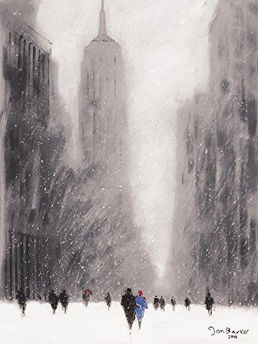 Jon Barker 60 x 80 cm diseño Paisaje nevado 5th Avenue