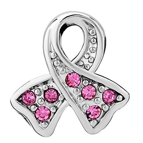 Uniqueen Fit Pandora Charms metal común cristal