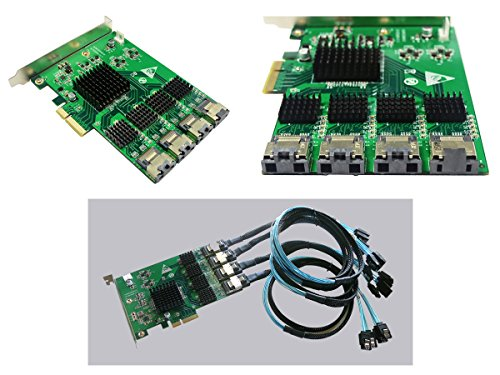 Kalea-Informatique-© Controleur scheda PCI Express (PCI-E), 16Ports SATA/eSATA, chipset Marvell 88SE9215-Wind owsxp32/64, Vista32e Seven/64, 832/64/Server 2003/2008R2, Linux Kernel 2.6. X E Nei Paesi terzi.
