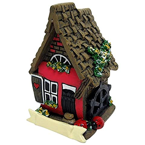Jones Home and Gift Red Miniature Fairy House,