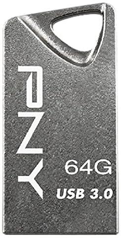 PNY Micro Clé USB 64 Go 3.0 T3 Attaché Gris