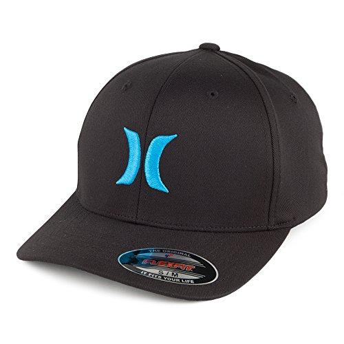 Casquette Flexfit One & Only logo cyan HURLEY Noir